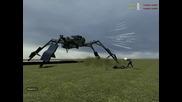 Giant spider robot in Gmod10