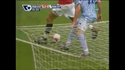 Man Utd - Man City - финт на Бербатов