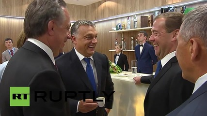 Russia: Medvedev and Orban watch final comp of Water Sports Championship