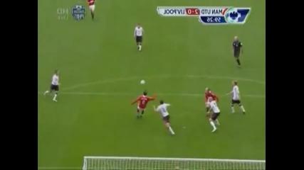 Гол на Димитар Бербатов срещу Ливерпул