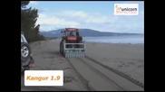 Машина за чистене на пясък модел: Kangur 1.9