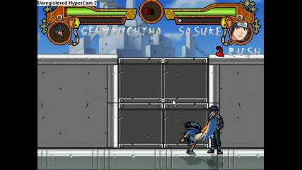 Naruto M.u.g.e.n ( sasuke uchiha Fight