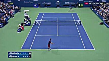 Us Open 18 1 /2 Kei Nishikori - Novak Djokovic