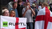 UK: Far-right groups rally at Downing Street opposed to immigration
