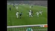 """Трудна победа на """"Интер"""" над """"Чезена"""" с 3:2 в отложен мач от Серия А"""
