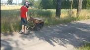 Едно от най-умните изобретения, строителна количка с мотор