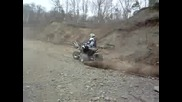 trx 450 predator 500 blaster kfx 700 riding in sand pit
