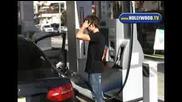 Zac Efron Pumping Gas