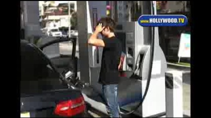 Zac Efron Pumping Gas