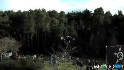 За първи път Bmx се завъртя 3 пъти на въздуха !