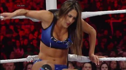 The Bella Twins vs. Alicia Fox & Aksana Raw (03.03.14)