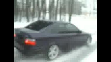 Bmw drift in snow