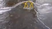 Дънни ел. помпи за обръщане, опресняване, аериране водата в рибарници с фотоволтаично електрозахране