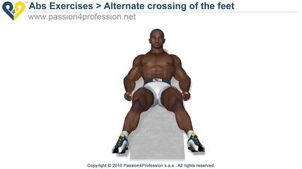 Кръстосване на краката - упражнение за долната част на корема