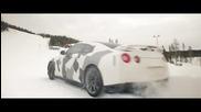 Nissan Gtr - изкачване по - заснежена планина!