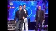 Music Idol 2 - Иван Ангелов и Фънки се хранят в ефир.