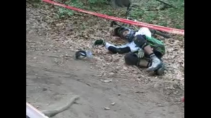 Downhill Mountain Bike Accident