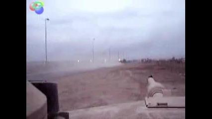 Tank drag race M1a2