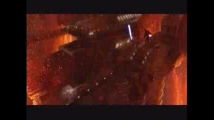 Star Wars 3 Anakin vs Obi Wan Kenobi (disturbed - just stop)