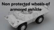 Патентовни автомобилни бронирани колела за бронетранспртьори и бойни коли armored wheels - tires