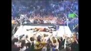 Wwe - Brock Lesnar хвърля Big Show от най - горното въже и ринга се чупи !