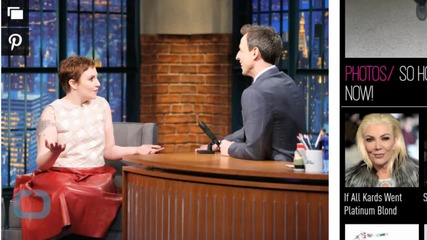 Lena Dunham Debuts Her Chic Pixie Cut on Late Night!