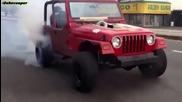 Twin Turbo 2jz Jeep Wrangler Burnout