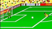 Анимации за световното: Бразилия 3 - 1 Хърватия