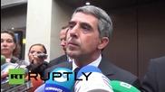 България: Президента Росен Плевнелиев говори за отпускането на въздушен коридор на Русия