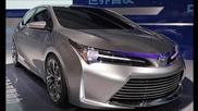 New!!! 2014 Toyota Corolla Hybrid At Shanghai Motor Show