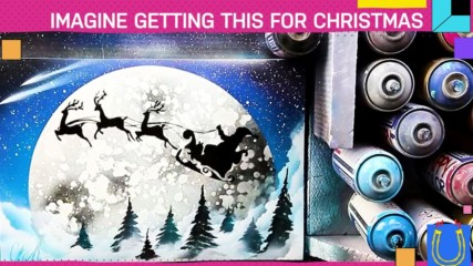 When spray paint meets Christmas...