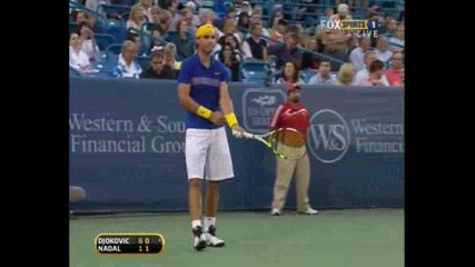 Nadal - Djokovic Cincinnati Sf.part3