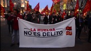 Spain: Protest calls for right to strike as 'Airbus 8' trial kicks off