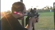 Стрелба с Мини Узи 9mm, картечен пистолет