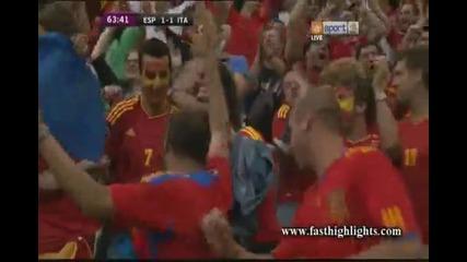 Евро 2012 : Испания 1 - 1 Италия ( Сеск Фабрегас връща Испания във мача 64' минута) 10.06.2012