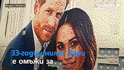 """Фенове направиха портрет на Хари и Меган от """"Лего"""""""