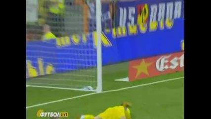 Страхотният гол на Давид Вия срещу Реал Мадрид за 1:1