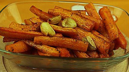 Печени моркови с джинджифил