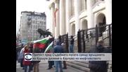 Протест пред Съдебната палата срещу връщането на Куршум джамия в Карлово на мюфтийството