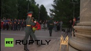 Russia: Night Wolves take part in 'Candle of Memory' ceremony in Moscow