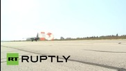 Syria: See Russian jets land and take off for sorties at Hmeymim base