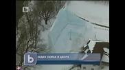 Леден замък в двора, 25 февруари 2011, b T V Новините