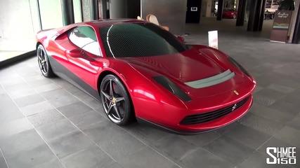В шоурума на eдна от най- добрите дизайнерски къщи: Pininfarina - страхотни автомобили!