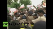India: Protesters clash with police outside Bollywood star Salman Khan's home