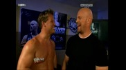 Backstage между Stone Cold, Shawn Michaels и Chris Jericho [ Raw 15.03.10]