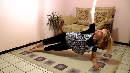 Лесна гимнастика за плосък корем