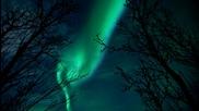 Удивителна гледка!! Северно сияние в Арктика ...