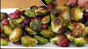 Roasted Brussels Sprouts Grapes - A Thanksgiving Recipe