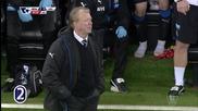 Попадението на Вайналдум за 2:0 за Нюкасъл срещу Ливърпул