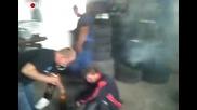 Луд Руснак тества еърбег - 100% Смях :d